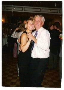 Maria dancing with her Dad