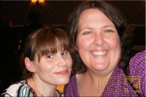 Mandy (left) with Christine