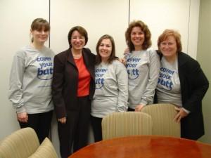 Mandy, Senator Klobuchar, Lisa, Cindy and Brenda, Washington DC