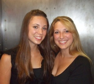 Caitlin (right) and her sister Maggie (left).
