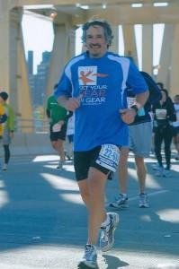 Get Your Rear in Gear marathoner, David Goodman, running in the 2010 ING New York City Marathon