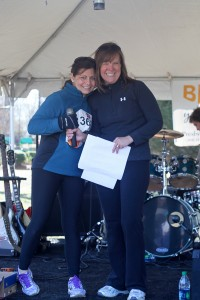Charlotte Get Your Rear in Gear Co-Directors, Sue Falco (L) and Mary-Karen Bierman (R) at the 2012 Charlotte GYRIG.