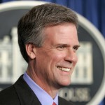 Tony Snow smiles as he is introduced by President Bush as his new Press Secretary on April 26, 2006. AP Photo/Gerald Herbert