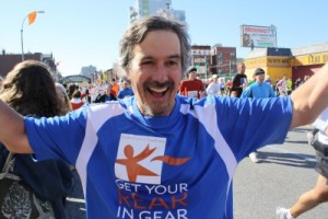David Goodman ran the NYC Marathon to get the word out about screening