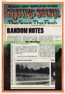 Duane Allman memorial in Rolling Stone Magazine