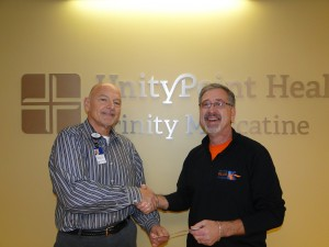 Trinity Muscatine CEO Jim Hayes (L) and Event Director Bryan Fessler (R)
