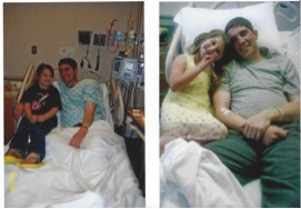 The only pictures he ever let me take of him in the hospital with Carson. He really struggled with letting her see him deteriorate. This was 3 months before he died in 2010.
