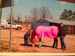 Carson and Shannon with Carson's horse Faith.