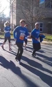 Robin running.