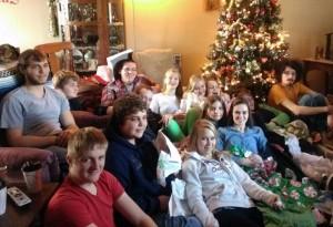 Kim's grandkids during Christmas 2013.
