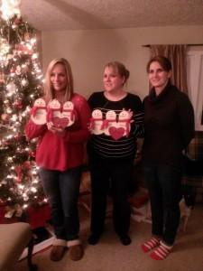 Kim's three daughters, Tammy, Kim and Jennifer.