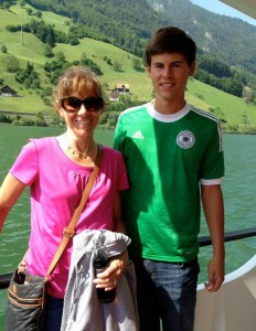 Jake with his mom, Jennifer.