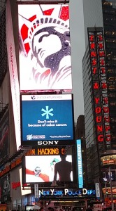 The *Don't Miss It campaign in Times Square, New York City in November 2015.