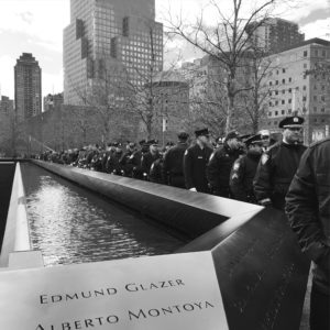 First responders at the 9/11 Memorial.