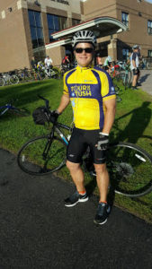 Sam at the MS150 Ride.
