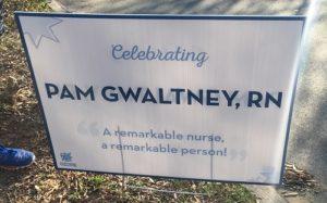 Blue Mile Celebrating Sign