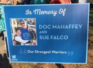 BlueMile In Memory Sign