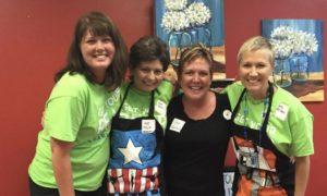 Robin, Sue, Sheri, and Leta - colon cancer survivors