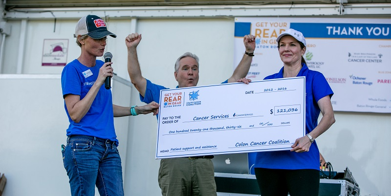 Get Your Rear in Gear Baton Rouge check presentation