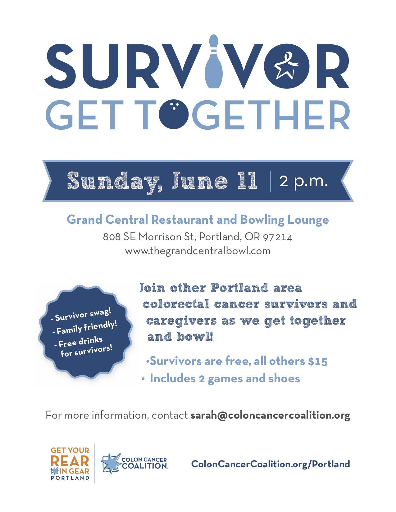 Portland Survivor Event Flyer