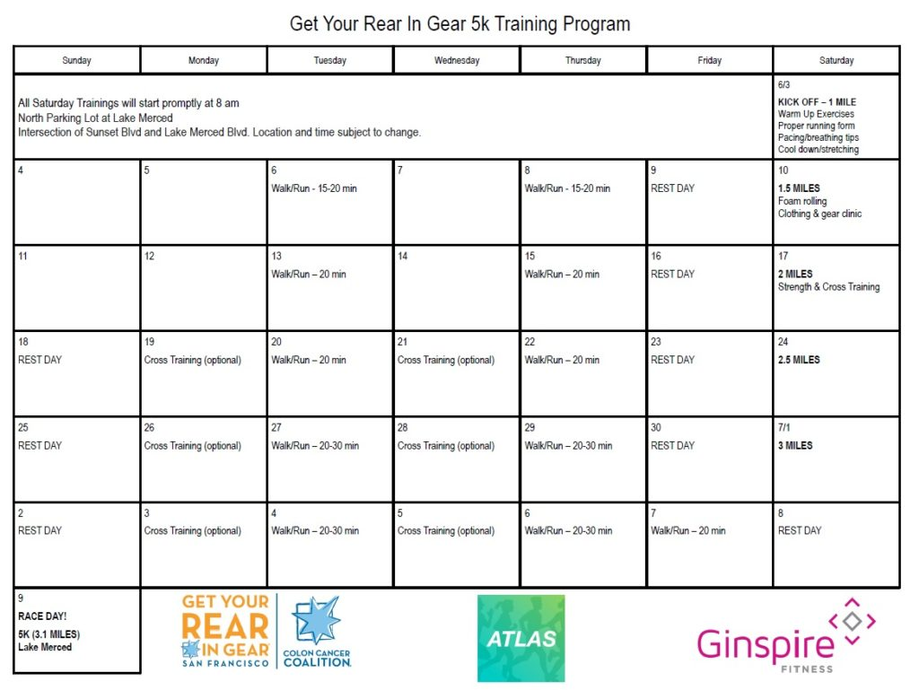 Get Your Rear in Gear San Francisco 5K Training Program