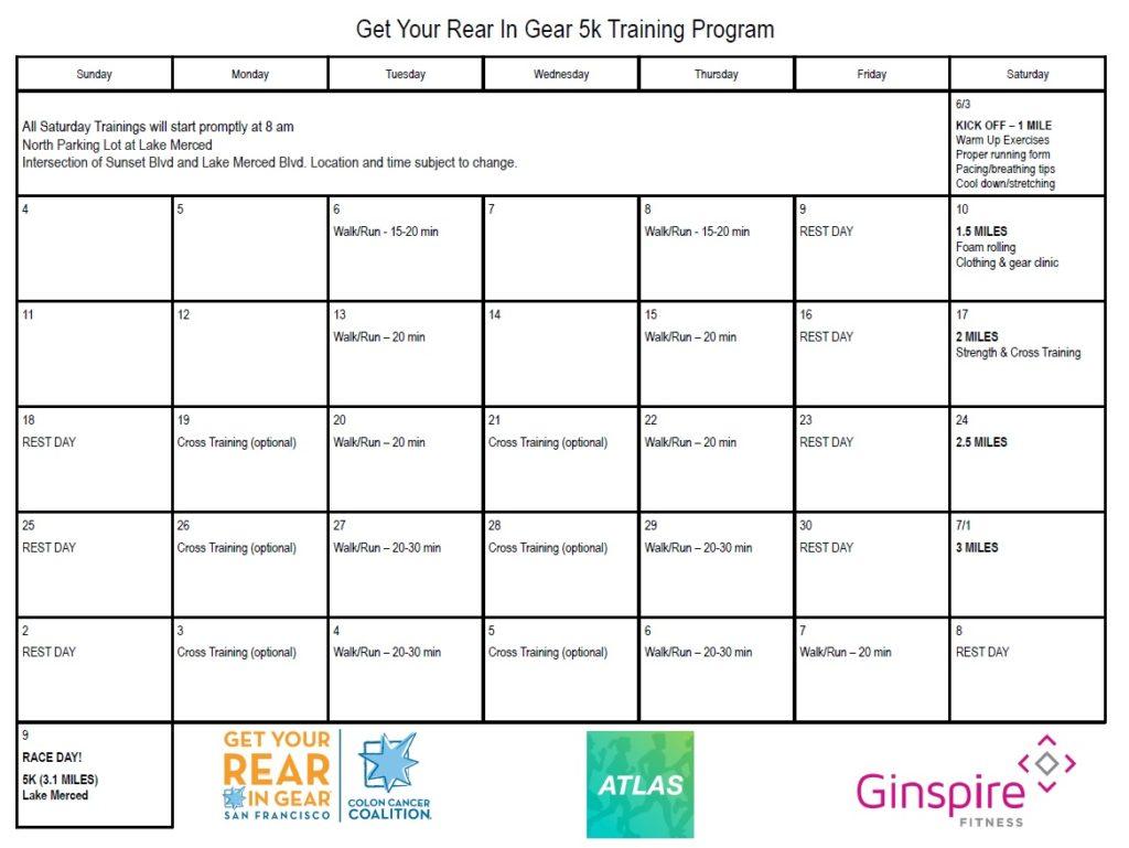 Get Your Rear in Gear San Francisco 5K Training Program
