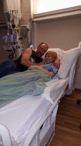 Sasha in hospital