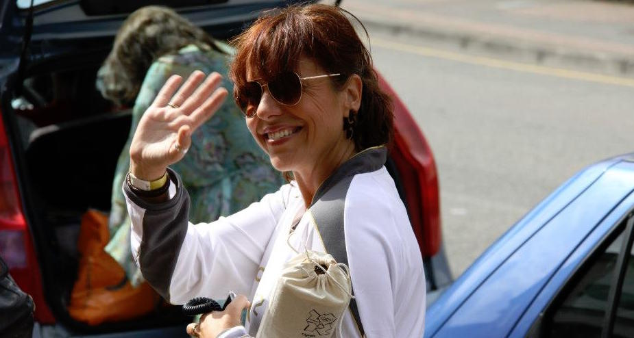 Deborah Ward-Johnstone waving