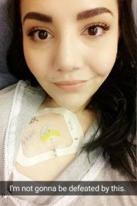 Nicole Rivera hospital selfie