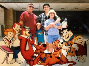 Randy Lopez and family at Universal Studios 2004