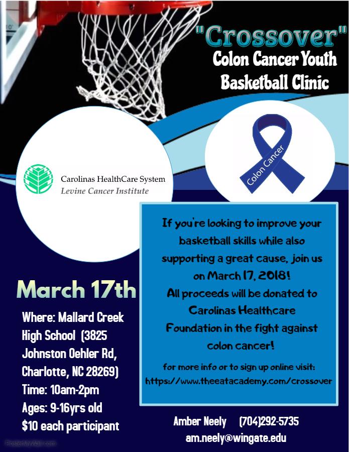 Basketball Clinic Flyer 2 Colon Cancer Coalition