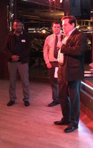Drs. Haji and Stevens speak at event