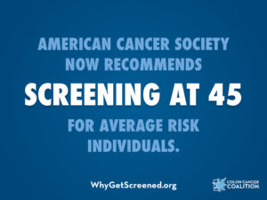 ACS now recommends CRC screening begin at 45.