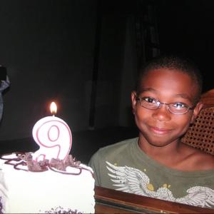 Michael Alex Robinson nine years old birthday