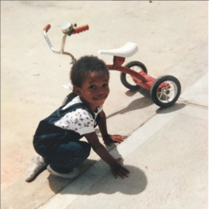 Michael Alex Robinson tricycle childhood