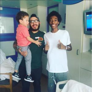 Michael Alex Robinson hospital friends visit