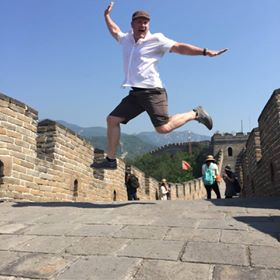 Doug at Great Wall of China