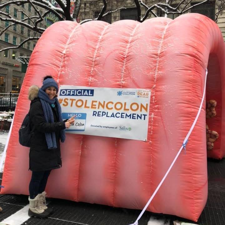 Inflatable colon named Captain Colon