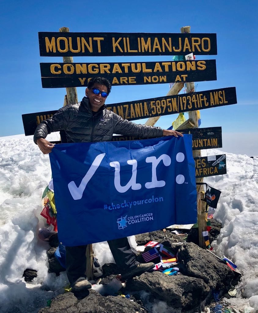 Gastroenterologist Dr. Sri Pothamsetty summits Mt. Kilimanjaro