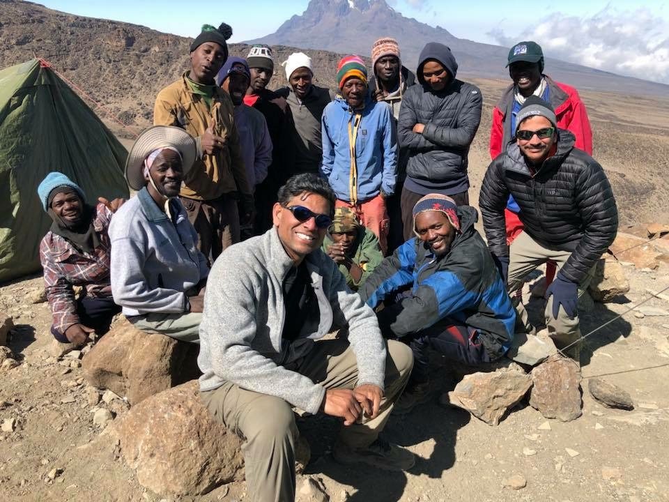 Dr. Pothamsetty and climbing guides
