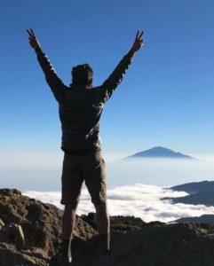 Dr. Pothamsetty on Mt. Kilimanjaro