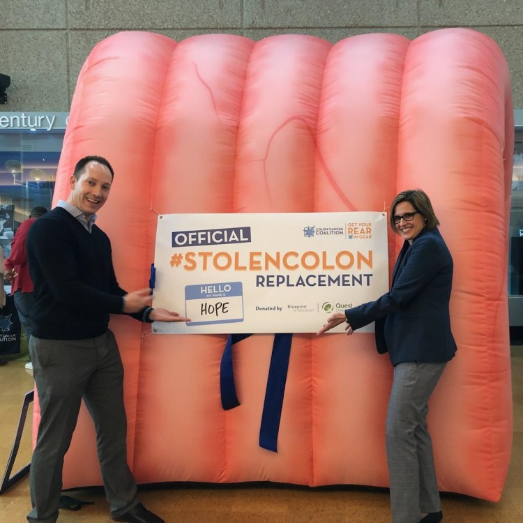 Inflatable colon named HOPE