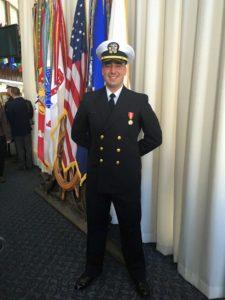 Ben White Navy flight school graduation