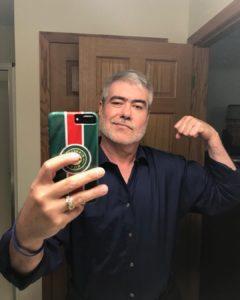 john SARZOZA strong arm selfie wild hockey fan