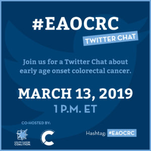 Twitter Chat for early age onset colorectal cancer patients