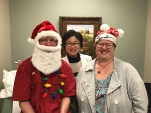 Larry Sanders doctor visit santa christmas