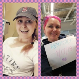 courtney maurer first chemo treatment remission