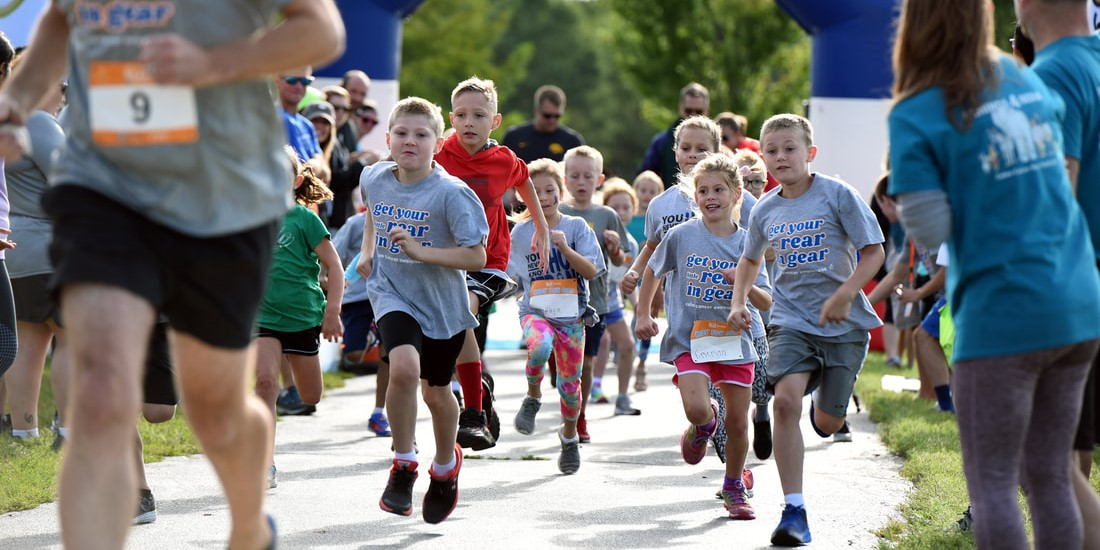 Get Your Rear in Gear Des Moines kids run