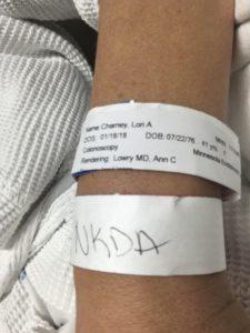lori charney hospital bracelet