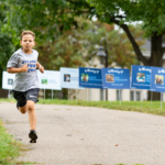 Get Your Rear in Gear Twin Cities kid runner blue mile